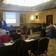 Odoo New Jersey Roadshow delivering a customer case study